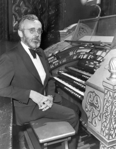 Dr. Bill Snyder at the Mighty Wurlitzer in 1980