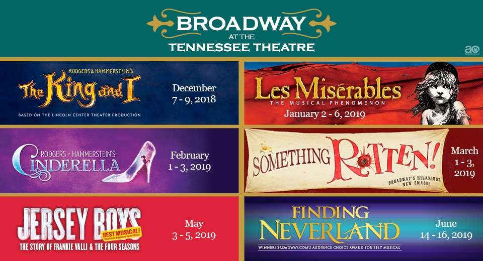 broadway musicals at the tennessee historic tennessee theatre